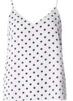 Dorothy Perkins Womens **Only White Polka Camisole Top- White