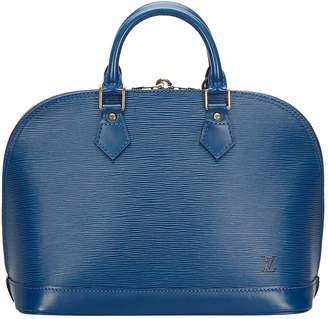 Louis Vuitton Alma Blue Leather Bags