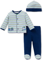 Little Me Baby Boy Striped Train 3-Pc. Set