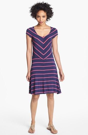 Nordstrom FELICITY & COCO Stripe Jersey Dress (Regular & Petite Exclusive)