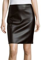 Max Studio Solid Embossed Skirt
