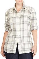 Lauren Ralph Lauren Plus Plaid Cotton Shirt