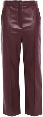 Chalayan Cropped Faux Leather Wide-leg Pants