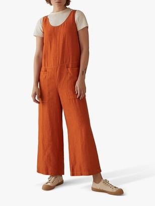 Toast Garment Dye Linen Jumpsuit, Orange