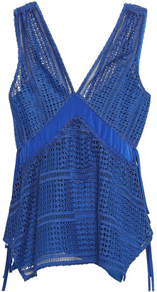 Derek Lam 10 Crosby Crochet-knit Top