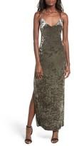 NBD Women's In The Deep Velvet Maxi Dress
