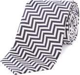 Simon Carter Zigzag Print Tie