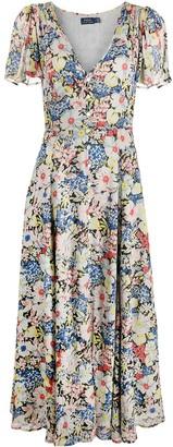 Polo Ralph Lauren Floral-Print Short-Sleeved Maxi Dress