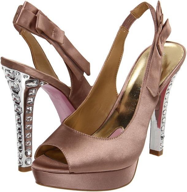 Paris Hilton Becca (Champagne Satin) - Footwear