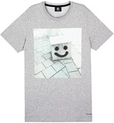 Ps By Paul Smith Grey Printed Organic Cotton T-shirt