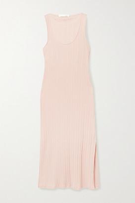 Skin Rozlyn Ribbed Pima Cotton-jersey Nightdress - Blush
