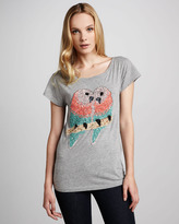 French Connection Sequined-Lovebirds Slub Tee