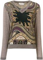 Etro print sweater - women - Polyamide/Spandex/Elastane/Wool - 42