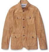 Michael Kors Slim-Fit Nappa Suede Field Jacket