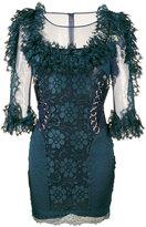 Christopher Kane floral lace dress - women - Nylon/Spandex/Elastane - 40