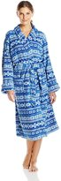 Intimo Women's Printed Faire Isle Corel Robe