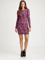 Animal Leopard-Print Sweaterdress