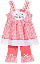 Nannette 2-Pc. Gingham Bunny Tunic and Capri Leggings Set, Baby Girls (0-24 months)