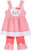 Nannette 2-Pc. Gingham Bunny Tunic & Capri Leggings Set, Baby Girls (0-24 months)