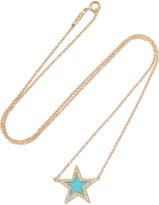 Jennifer Meyer 18-karat Gold, Turquoise And Diamond Necklace - one size