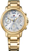 Tommy Hilfiger Women's Sport Lux Gold-Tone Stainless Steel Bracelet Watch 39mm 1781742