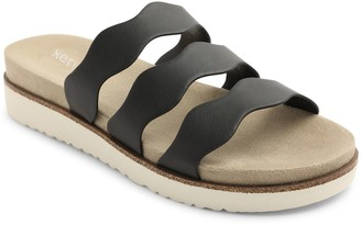 Kensie Slip On Triple Strap Slide Sandals - Dison