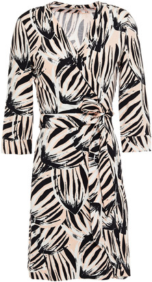 Diane von Furstenberg Julian Printed Stretch-jersey Mini Wrap Dress