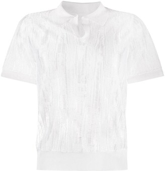 Maison Margiela Ripped Polo Shirt