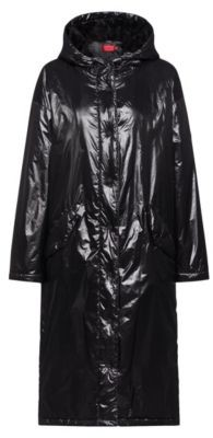 HUGO BOSS Lightweight parka in recycled material with manifesto artwork