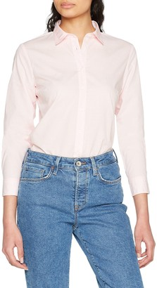 Tommy Hilfiger Women's Haria Dobby Shirt Ls W2 Plain Regular Fit Long Sleeve Blouse