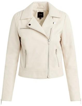 Joe's Jeans Dylan Leather Zip Moto Jacket