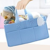 Sorbus Felt Baby Diaper Caddy with Handle, Storage for Diapers, Baby Wipes, Supplies, etc - Portable, Foldable, Removable Compartments