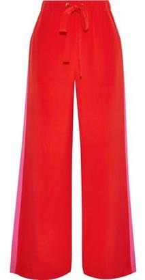Diane von Furstenberg Ellington Striped Silk Crepe De Chine Wide-leg Pants