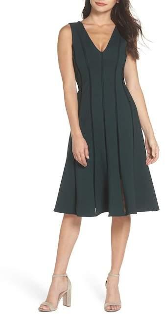 Adelyn Rae Pilar Ponte Knit A-Line Dress