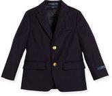 Ralph Lauren Lessona Wool Blazer, Navy, Size 5-7
