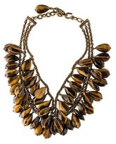 Stephen Dweck Multistrand Tiger's Eye Quartz Collar Necklace