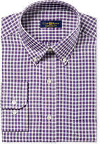 Club Room Men's Classic/Regular Fit Twill Block Check Dress Shirt, Created for Macy's
