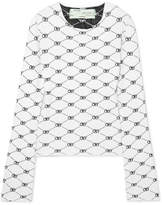 Off-White Intarsia Knitted Top