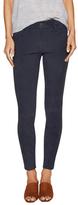 J Brand Leather Super Skinny Nubuck Jeans