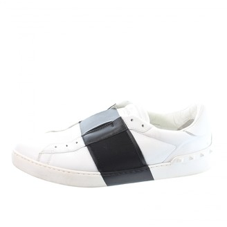 Valentino Rockstud White Leather Trainers