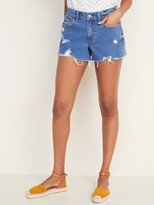Old Navy Mid-Rise Distressed Boyfriend Jean Cut-Off Shorts for Women - 3-inch inseam