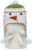 """Elegant Baby 100% Cotton, Giftable Snowman Aviator Hat with Fleece Lining and Soft, Cream, 30x34"""" Poly Fleece Stroller Blanket by"""