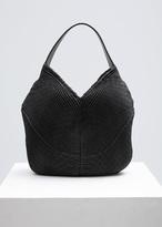 Issey Miyake Black Small Circle Pleated Bag