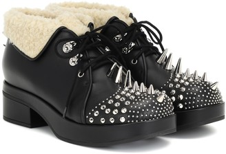 Gucci Victor studded leather ankle boots