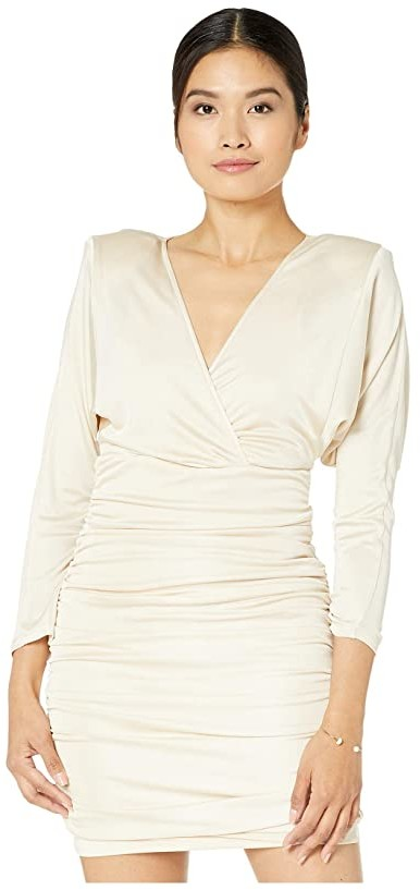 BCBGMAXAZRIA V-Neck Knit Cocktail Dress (Corozo) Women's Dress