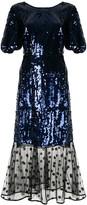 Markus Lupfer sequin mesh panel dress