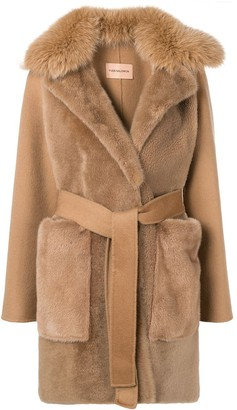 Yves Salomon Belted Cashmere Coat