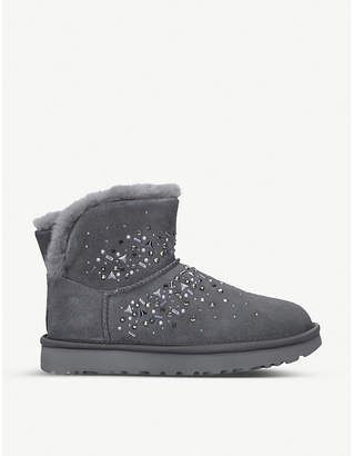 UGG Classic Galaxy Mini suede and sheepskin boots