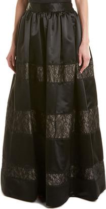 Alice + Olivia Prima Silk-Trim Ball Gown Skirt