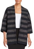 Helene Berman Striped Wool Sparkle Jacket